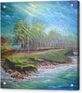 After The Storm Acrylic Print by Affordable Art Halsey