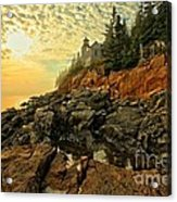 Afternoon At Bass Harbor Acrylic Print by Adam Jewell