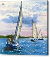 Afternoon Sail Acrylic Print by Karol Wyckoff