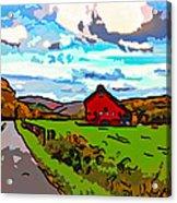 Ah...west Virginia Line Art Acrylic Print by Steve Harrington