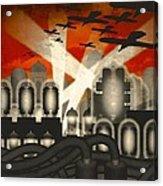Air Raid Acrylic Print by Milton Thompson