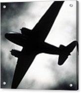 Airplane Silhouette Acrylic Print by Tony Cordoza