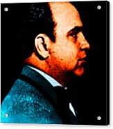 Al Capone C28169 - Black - Painterly - Text Acrylic Print by Wingsdomain Art and Photography