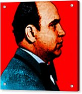 Al Capone C28169 - Red - Painterly - Text Acrylic Print by Wingsdomain Art and Photography