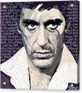 Al Pacino Again Acrylic Print by Tony Rubino