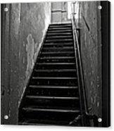 Alcatraz Hospital Stairs Acrylic Print by RicardMN Photography