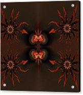 Algorithmic Flowers Acrylic Print by Claude McCoy