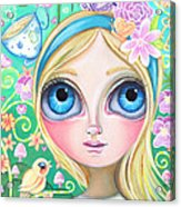 Alice In Pastel Land Acrylic Print by Jaz Higgins