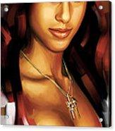 Alicia Keys Artwork 1 Acrylic Print by Sheraz A