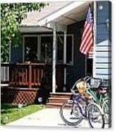 All American Driveway Acrylic Print by Casey Barnett