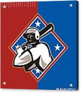 All Star Baseball Tournament Retro Poster Acrylic Print by Aloysius Patrimonio
