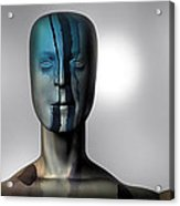 Almost Man In The Middle Acrylic Print by Bob Orsillo