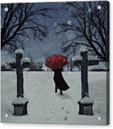 Alone In The Snow Acrylic Print by Joana Kruse