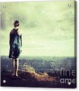 Alone Acrylic Print by Konstantin Sutyagin