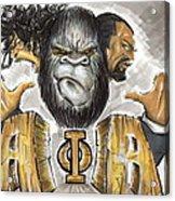 Alpha Phi Alpha Fraternity Inc Acrylic Print by Tu-Kwon Thomas
