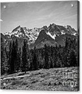 Alpspitze Till Zugspitze II Acrylic Print by Hannes Cmarits