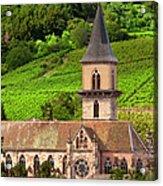 Alsace Church Acrylic Print by Brian Jannsen