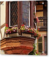 Alsace Window Acrylic Print by Brian Jannsen