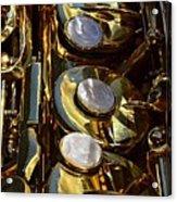 Alto Sax Reflections Acrylic Print by Ken Smith
