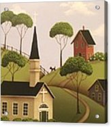 Amber Hills Acrylic Print by Catherine Holman
