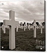 American Cemetery In Normandy  Acrylic Print by Olivier Le Queinec