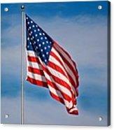 American Flag Acrylic Print by Benjamin Reed