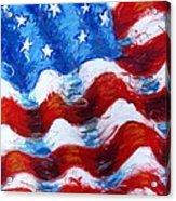 American Flag Acrylic Print by Venus