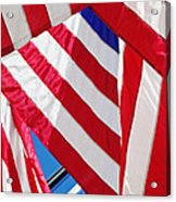 American Flags Acrylic Print by Nathan Griffith