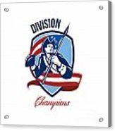 American Football Division Champions Shield Retro Acrylic Print by Aloysius Patrimonio