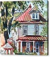 American Home With Children's Gazebo Acrylic Print by Kip DeVore