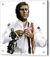American Icon  Steve Mcqueen Acrylic Print by Iconic Images Art Gallery David Pucciarelli