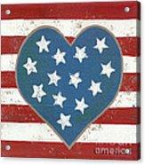 American Love Acrylic Print by Kristi L Randall