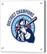 American Patriot Baseball District Champions Acrylic Print by Aloysius Patrimonio