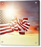 American Pride Acrylic Print by Les Cunliffe