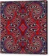 Americana Swirl Banner 1 Acrylic Print by Sarah Loft