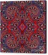 Americana Swirl Design 1 Acrylic Print by Sarah Loft
