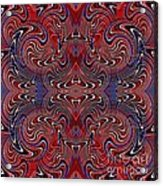 Americana Swirl Design 2 Acrylic Print by Sarah Loft