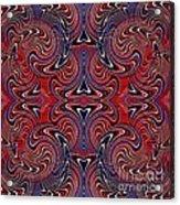 Americana Swirl Design 3 Acrylic Print by Sarah Loft