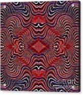 Americana Swirl Design 7 Acrylic Print by Sarah Loft