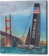 Americas Cup By The Golden Gate Acrylic Print by James Lopez