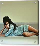 Amy Winehouse 2 Acrylic Print by Paul Meijering