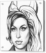 Amy Winehouse Acrylic Print by Olga Shvartsur