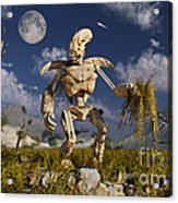 An Advanced Robot On An Exploration Acrylic Print by Stocktrek Images