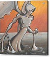 An Angel Out Of Oil Acrylic Print by Jeffrey Oleniacz