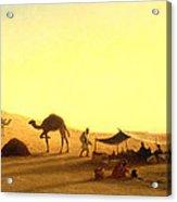 An Arab Encampment  Acrylic Print by Charles Theodore Frere