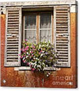 An Old French Window Acrylic Print by Olivier Le Queinec