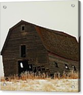 An Old Leaning Barn In North Dakota Acrylic Print by Jeff Swan
