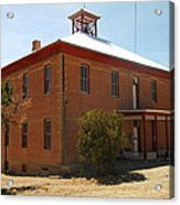 An Old School In White Oaks New Mexico Acrylic Print by Jeff Swan