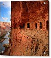Anasazi Granaries Acrylic Print by Inge Johnsson