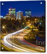 Anchorage Skyline Acrylic Print by Inge Johnsson